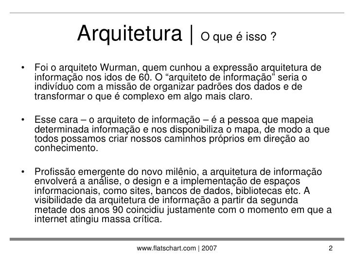 Arquitetura da Informacao na WEB Slide 2