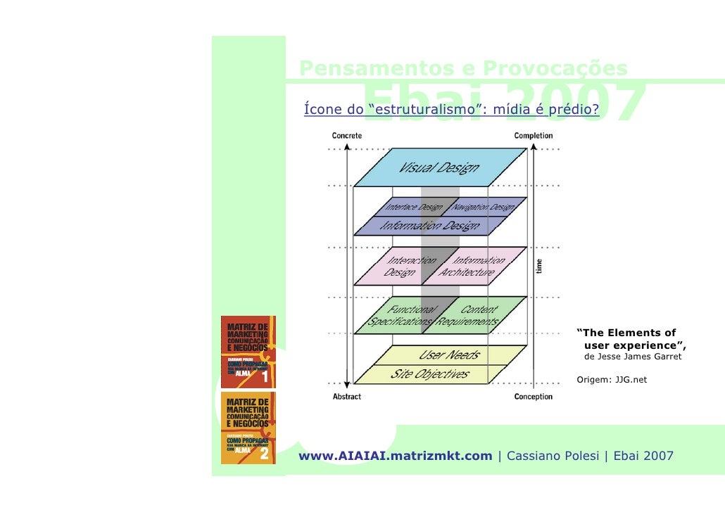 """Pensamentos e Provocações          Ebai 2007 Ícone do """"estruturalismo"""": mídia é prédio?                                   ..."""