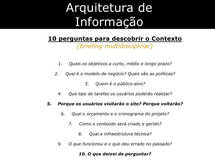Arquitetura De Informação Personas E Cenários