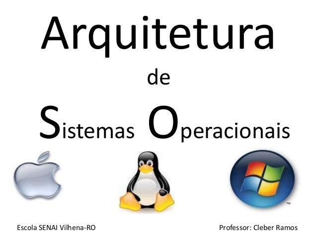 Arquitetura                          de      Sistemas OperacionaisEscola SENAI Vilhena-RO        Professor: Cleber Ramos