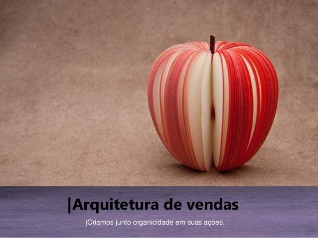 |Arquitetura de vendas |Criamos junto organicidade em suas ações.