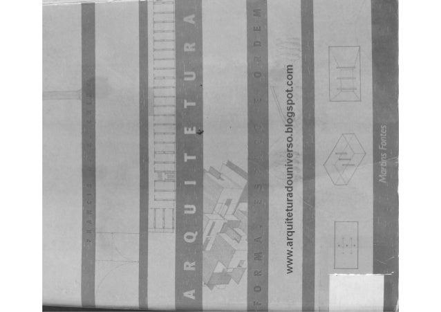 Arquitetura, forma, espaço e ordem (parte 1) ching