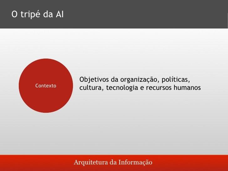 O tripé da AI                       Documentos, formatos/tipos, objetos,      Conteúdo                   metadados, estrut...