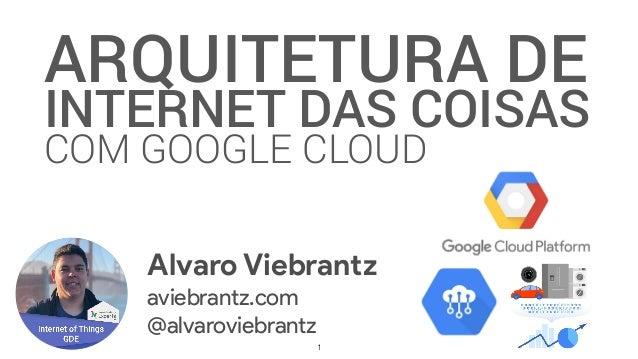 ARQUITETURA DE INTERNET DAS COISAS COM GOOGLE CLOUD Alvaro Viebrantz aviebrantz.com @alvaroviebrantz 1