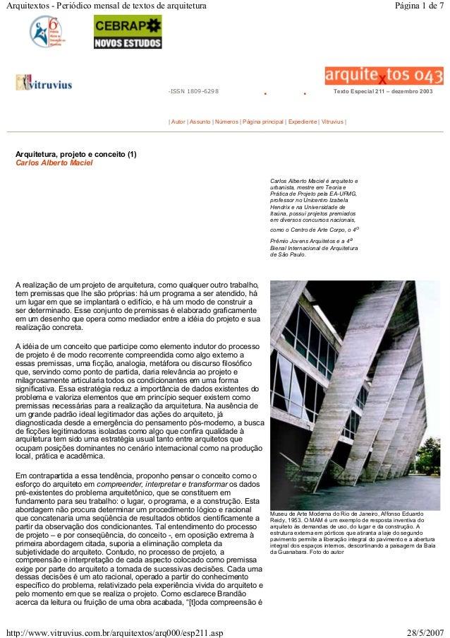 -ISSN 1809-6298 . . Texto Especial 211 – dezembro 2003 | Autor | Assunto | Números | Página principal | Expediente | Vitru...