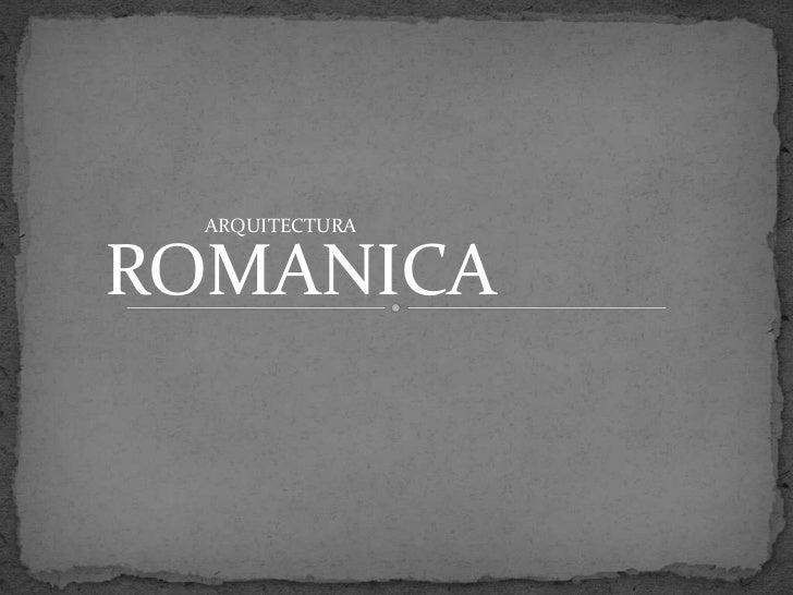 ARQUITECTURAROMANICA