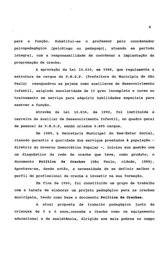9dos   direitos   sociais    e   compromissado     com   o   desenvolvimentoinfantil (São Paulo, cidade, 1992).2. ATRIBUIÇ...