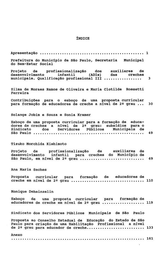 ÍNDICEApresentação   ...............................................          1Prefeitura do Municipio de São Paulo, Secre...