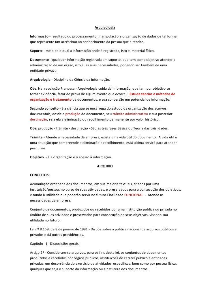 ArquivologiaInformação - resultado do processamento, manipulação e organização de dados de tal formaque represente um acré...