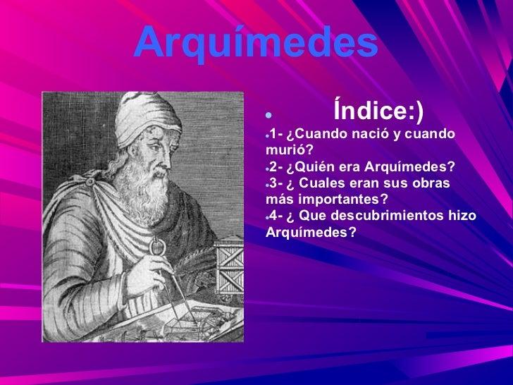 Arquímedes Ppt