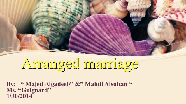 arranged marriage is not relevant in To my non-indian friends, arranged marriages are an endless source of  fascination and if i make the  but how you find them is not important.