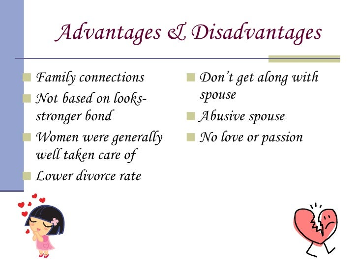 Positives of arranged marriages
