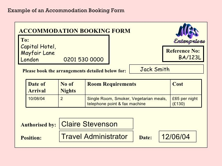 accommodation booking form template - accommodation booking form template image collections