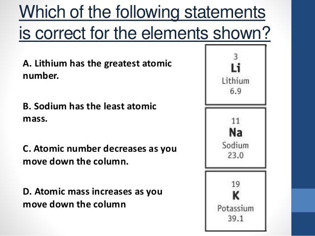 Arranging the elements d atomic mass increases as you move down the column 14 urtaz Image collections