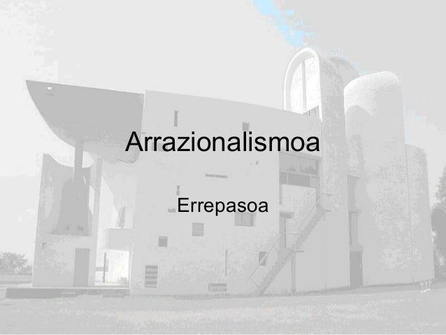Arrazionalismoa Errepasoa