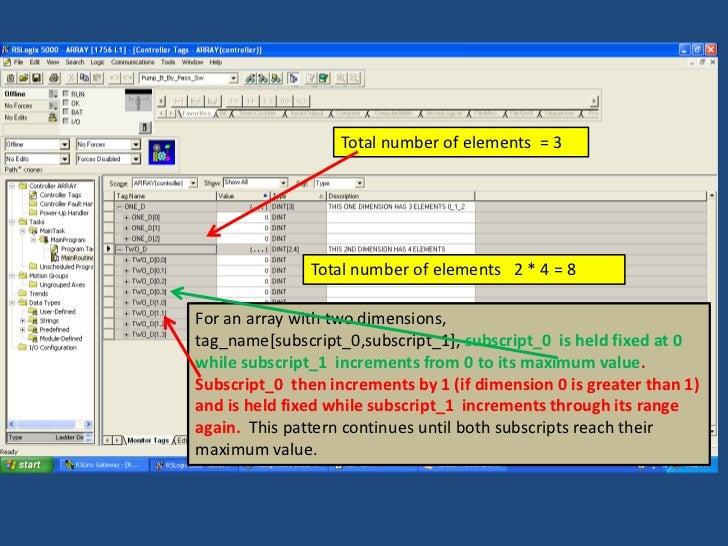 Allen Bradley Plc Training >> Sample of RSLogix 5000 Tag Arrays