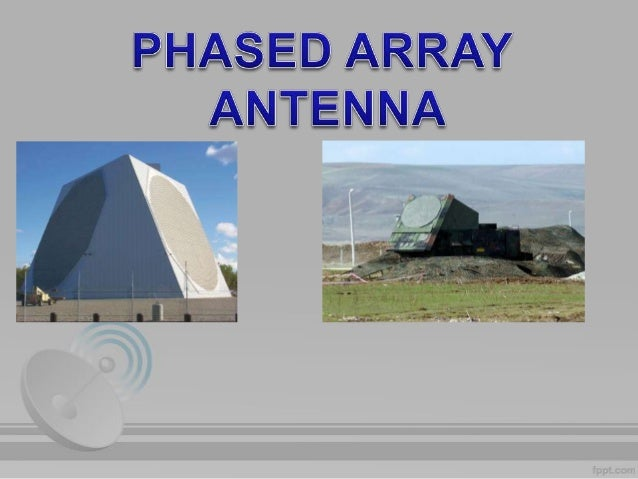 array and phased array antennna