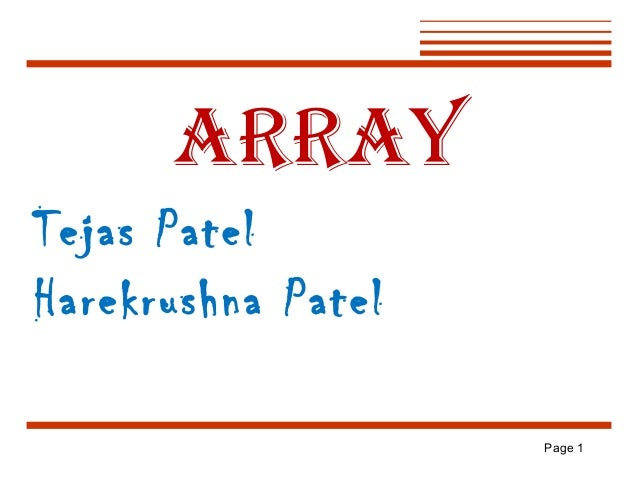 ARRAY Tejas Patel Harekrushna Patel Page 1
