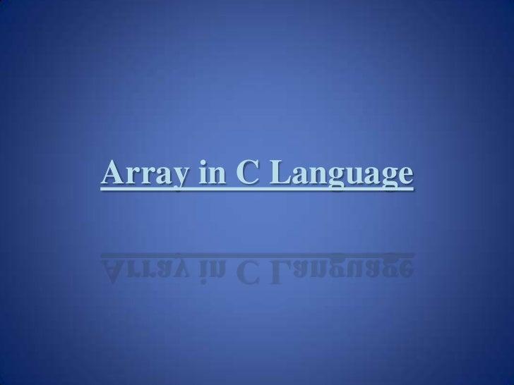 Array in C Language