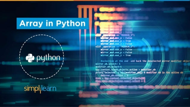 Python tutorial array in python   introduction and functions.