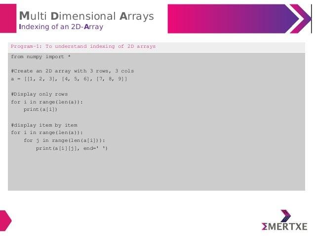 Numpy Index 2d Array With 1d Array