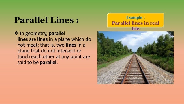 parallel lines in real life - photo #14