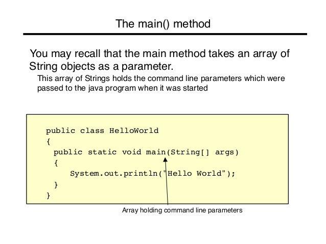 java how to create array through static method