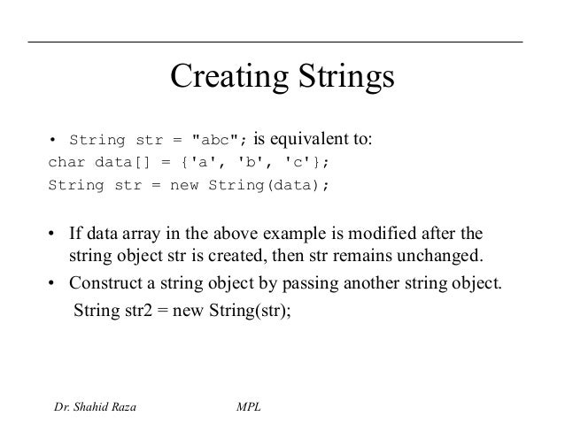 how to delete a string from an array in java