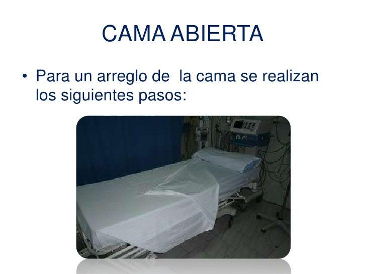 Arreglo de cama for Cama abierta