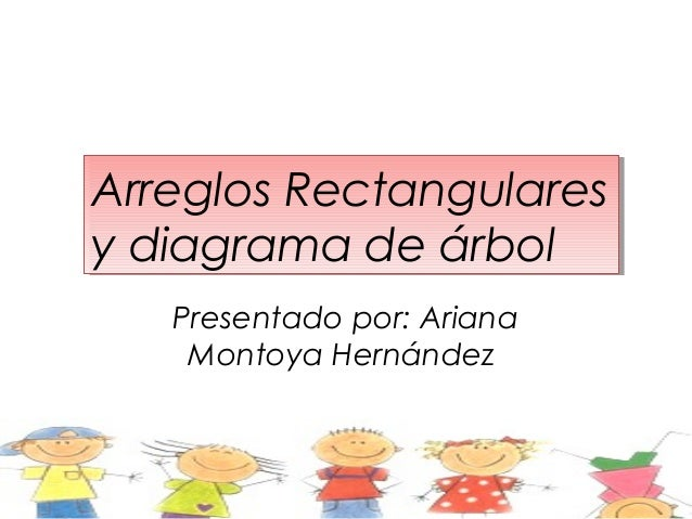 Arreglos RectangularesArreglos Rectangularesy diagrama de árboly diagrama de árbol   Presentado por: Ariana    Montoya Her...