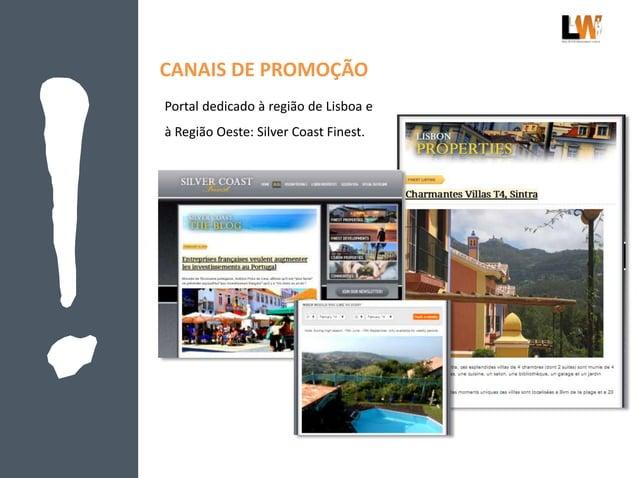 CANAIS DE PROMOÇÃO Portal dedicado à região de Lisboa e à Região Oeste: Silver Coast Finest.