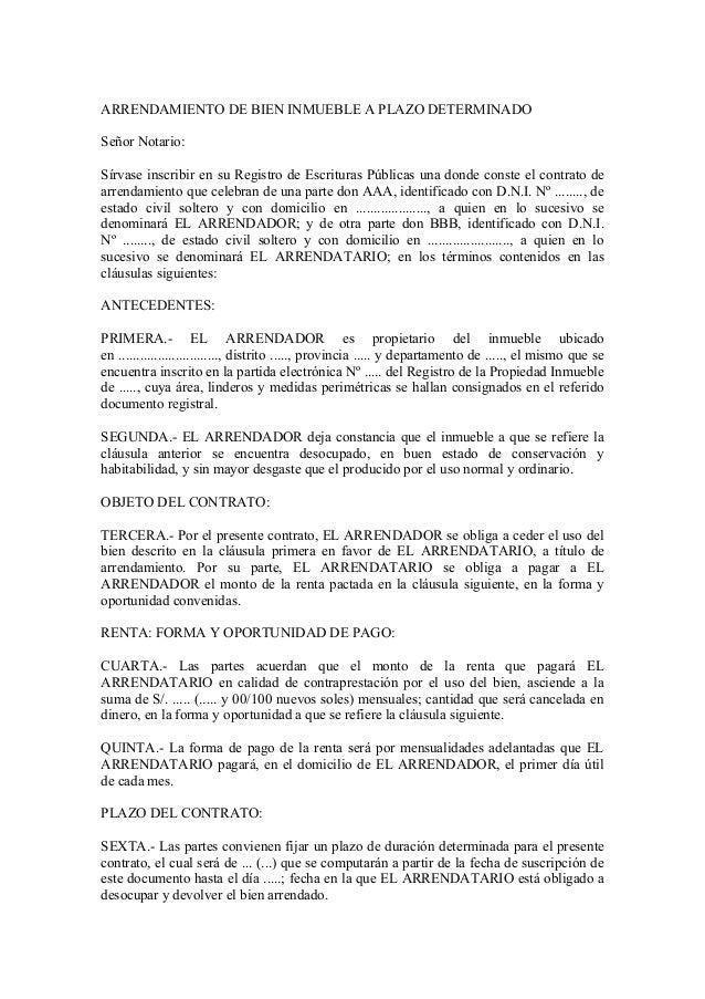 contrato de arrendamiento de bienes muebles idee per