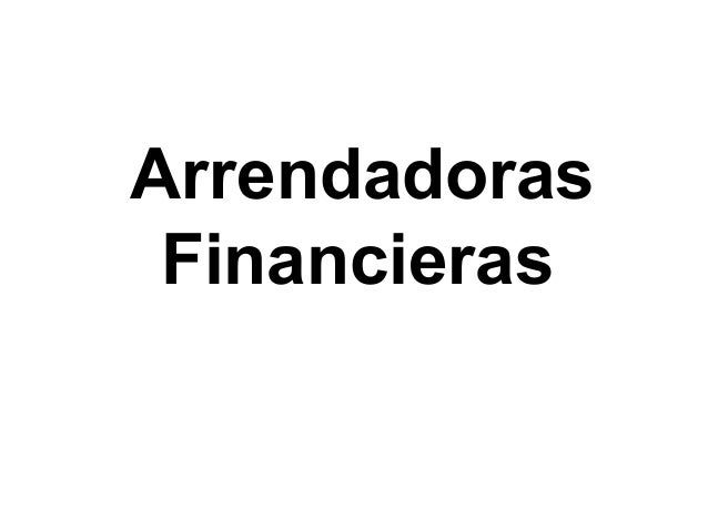 ArrendadorasFinancieras