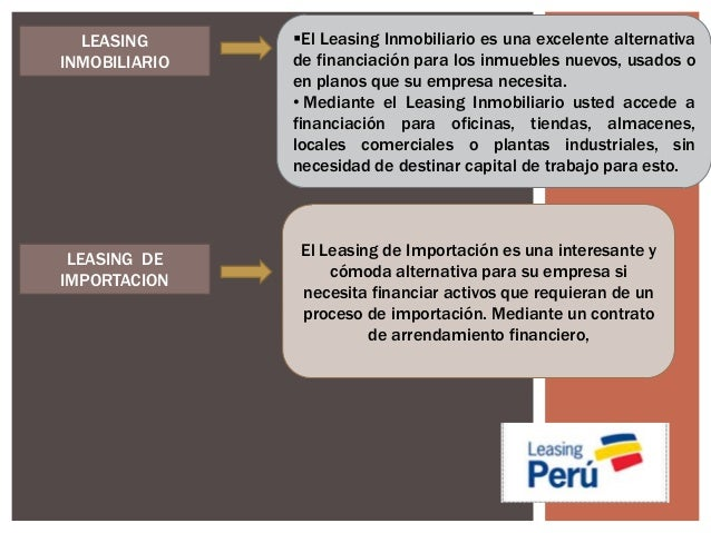 Arrendamiento financiero for Contrato de arrendamiento de oficina