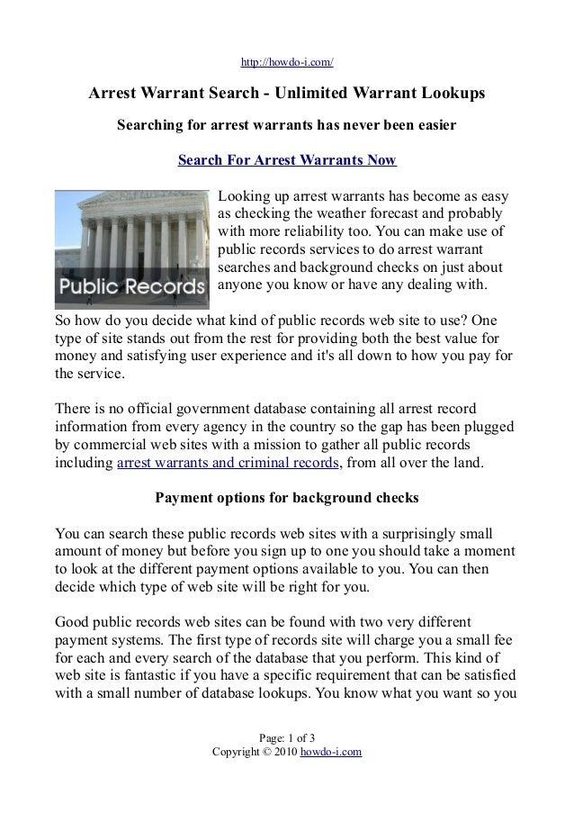 Search warrant presentation