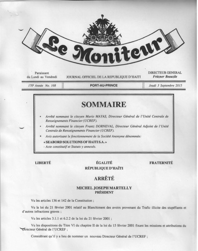 Nominations au sein de l'Administration Publique
