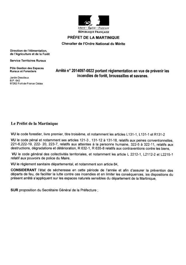 Arrêté préfecture 2014