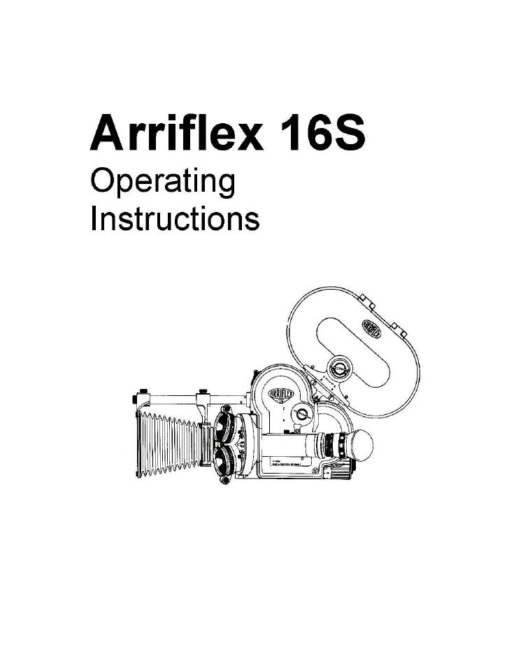 ARRIFLEX MANUAL PDF