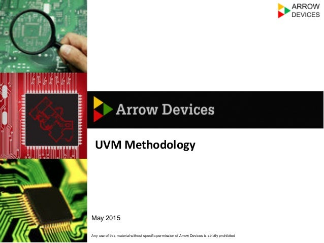 Any use of this material without specific permission of Arrow Devices is strictly prohibited May 2015 UVM	   Methodology	 ...