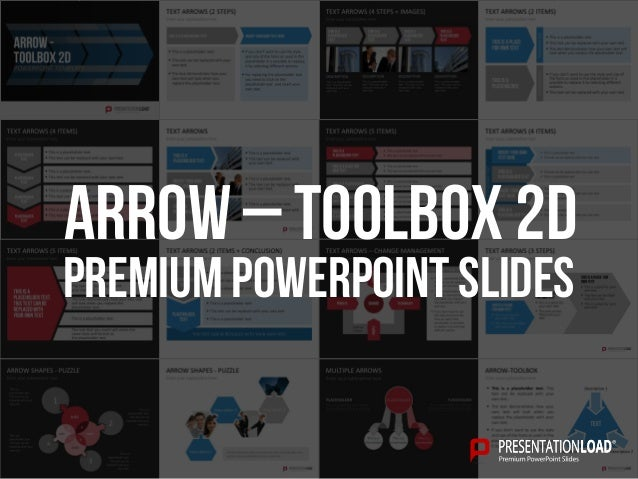 PREMIUM POWERPOINT SLIDES Arrow – toolbox 2d