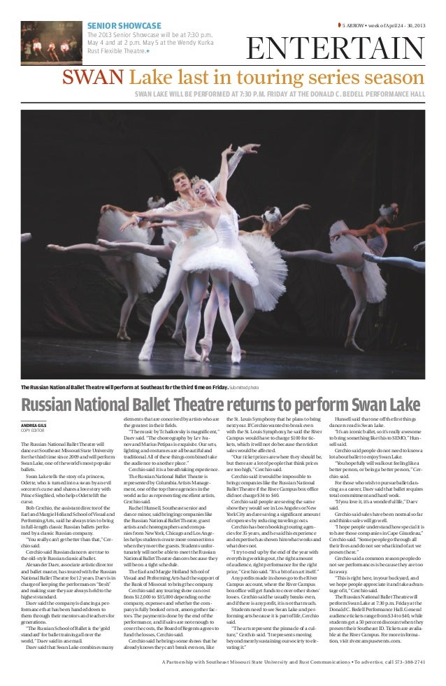 A Partnership with Southeast Missouri State University and Rust Communications • To advertise, call 573-388-2741SWAN LAKE ...