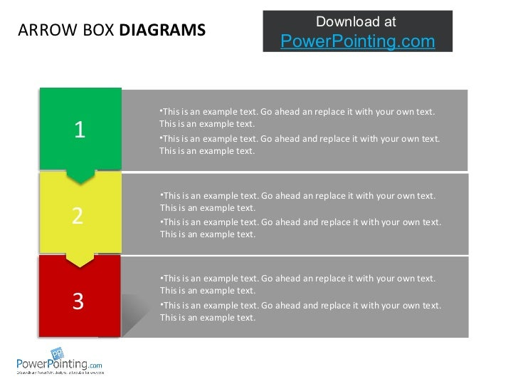 ARROWS  AND TEXTBOXES This is an example text. Go ahead an replace it with your own text.  This is an example text. Go ahe...