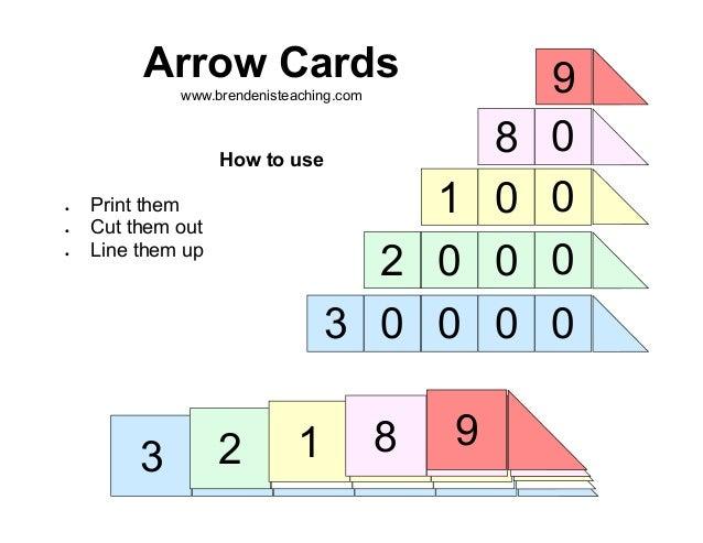 arrow cards coloured