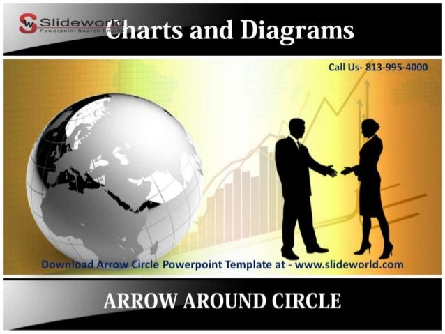 Call Us- 813-995-4000        if 'rc  e Powerpoint Template at - www. s idewor  d.com  ARROW AROUND CIRCLE