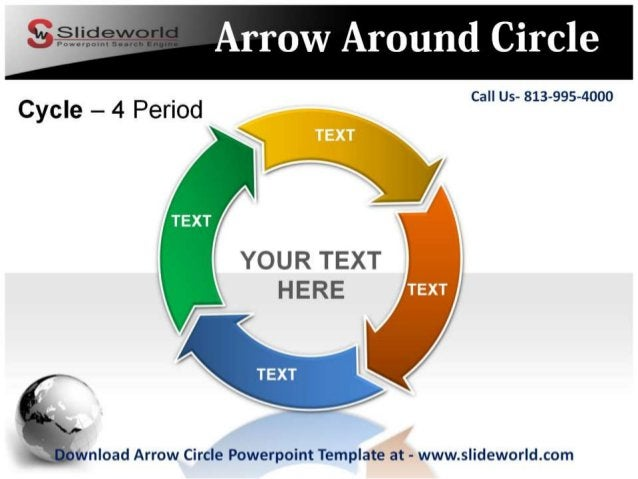 Call Us- 813-995-4000            YOUR TEXT HERE  gvnload Arrow Circle Powerpoint Template at - www. slideworld. com