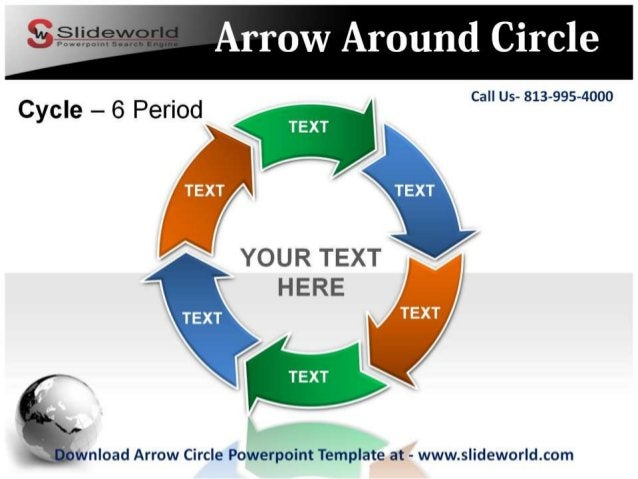 Call Us- 813-995-4000             YOUR TEXT HERE      Iwnload Arrow Circle Powerpoint Template at - www. slideworld. com