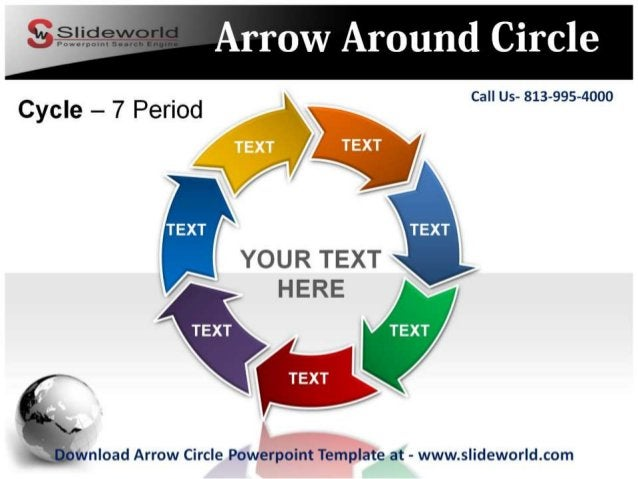 Call Us- 813-995-4000             YOUR TEXT HERE  if'/ J l .  d. — .  -.  wnload Arrow Circle Powerpoint Template at - www...