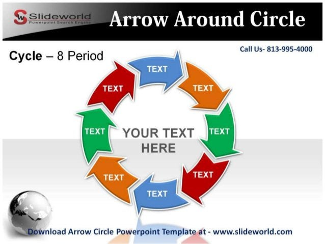 Call Us- 813-995-4000             YOUR TEXT HERE   nload Arrow Circle Powerpoint Template at - www. slideworld. com