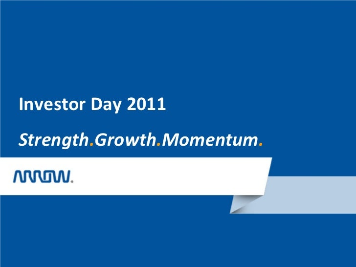 Investor Day 2011Strength.Growth.Momentum.