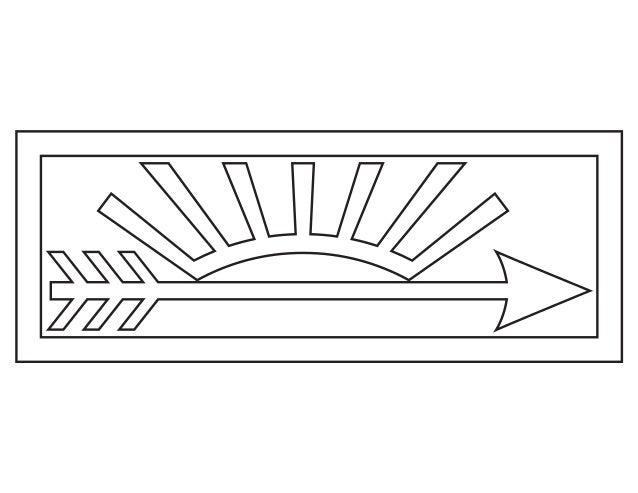 Arrow of light plaque (without arrow).